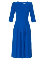 Goat Camelot Wool Crepe Dress Blue