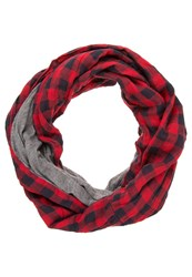 Your Turn Snood Red Black Grey