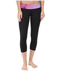 Hot Chillys Mtf Flex Sublimated Print Capris Black Splash Women's Capri