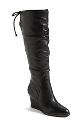 Franco Sarto 'Dominion' Wedge Boot Women Online Only Black Leather