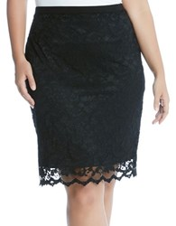 Karen Kane Plus Lace Pencil Skirt Black