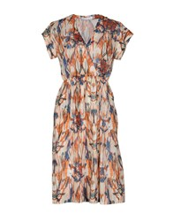 Pomandere Knee Length Dresses Rust