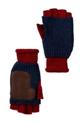Ben Sherman Knit Fingerless Gloves Red