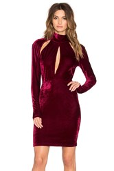 Oh My Love Great Pretneder Velvet Bodycon Dress Maroon