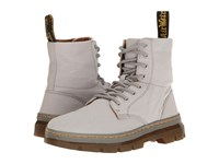 Dr. Martens Combs Mid Grey Canvas Boots Gray