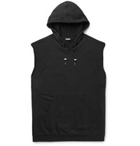 Raf Simons Isolated Heroes Oversized Printed Cotton Hoodie Black