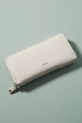 Anthropologie Jane Zip Wallet Ivory