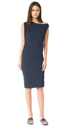 James Perse One Shoulder Draped Dress Deep