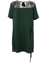 N 21 No21 Sheer Panel Shift Dress Green