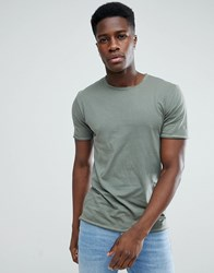 Only And Sons T Shirt In Organic Cotton Green