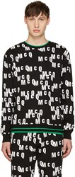 Mcq By Alexander Mcqueen Black Logo Clean Pullover