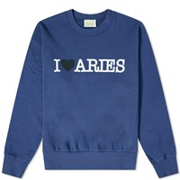 Aries I Heart Sweat Blue