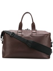 Troubadour Top Handle Holdall Bag Brown