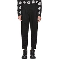 Mcq By Alexander Mcqueen Black Chino Track Trousers