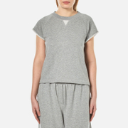 Alexander Wang T By Women's Soft French Terry Cap Sleeve Raglan Sweatshirt Heather Grey
