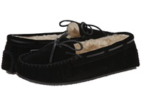 Minnetonka Cally Slipper Black Suede Women's Moccasin Shoes