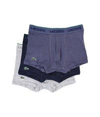 Lacoste Solid Trunk Cargo Melange Navy Light Grey Melange Men's Underwear Multi