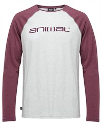 Animal Long Sleeve Tee Light Grey Marl