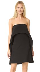 Kaufman Franco Halter Cocktail Dress Onyx