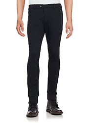 Moncler Solid Cotton Pants Black