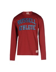 Russell Athletic Topwear T Shirts Men Maroon