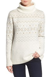 Women's Vineyard Vines Snowflake Fair Isle Turtleneck Sweater