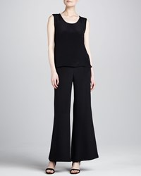Caroline Rose Wide Leg Crepe Pants Women's Black