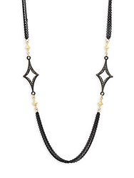 Armenta Old World Champagne Diamond And 18K Goldplated Sterling Silver Crivelli Station Necklace