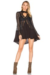 Free People New Tell Tale Tunic Black