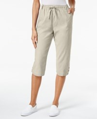 Karen Scott Petite Cotton Drawstring Capri Pants Only At Macy's Stonewall