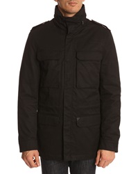 New Man 3 In 1 Black Parka With Removable Liner