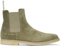 Common Projects Taupe Suede Chelsea Boots
