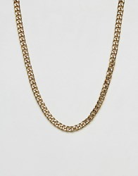 Mister Curb Chain Necklace In Gold