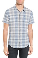 John Varvatos Men's Star Usa Trim Fit Plaid Sport Shirt