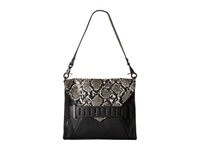 French Connection Harper Clutch Black White Snake Clutch Handbags Multi
