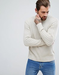 Ringspun Cable Block Knitted Jumper Tan