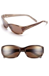 Women's Maui Jim 'Kuiaha Bay' 55Mm Polarized Sport Sunglasses Dark Sandstone