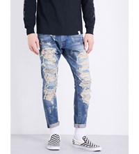 Magic Stick Destroyed Loose Fit Tapered Jeans Vintage