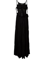 Dsquared2 Sweetheart Neckline Evening Gown Black