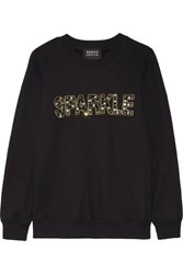 Markus Lupfer Anna Embellished Cotton Sweatshirt Black