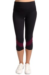Rosie Pope Women's Candace Crop Maternity Leggings Black Eggplant