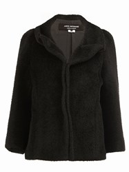 Comme Des Garcons Junya Watanabe Fur Effect Fitted Jacket Black