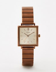 Casio Analogue Vintage Watch In Rose Gold