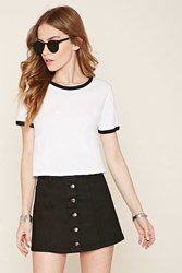 Forever 21 Button Front Denim Mini Skirt