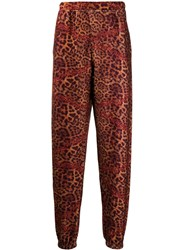 Aries Leopard Print Fleece Track Pants 60