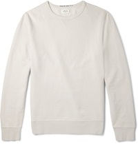 Hartford Cotton Jersey Sweatshirt Gray