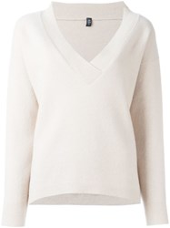 Eleventy V Neck Jumper Nude And Neutrals