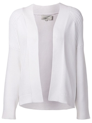 3.1 Phillip Lim Ribbed Yoke Cardigan White