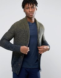 Selected Shawl Cardigan Olive Night Green