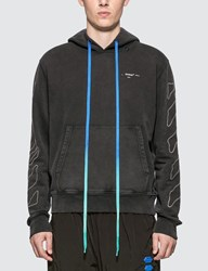 Off White Abstract Arrows Slim Hoodie Black